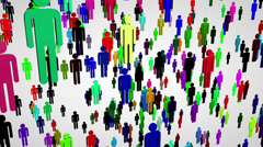 4K 3D Network Connections Overpopulation Cocncept 2 Stock Footage