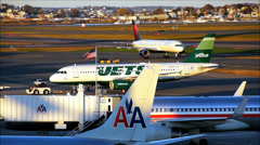 JetBlue Airlines NY Jets airplane Stock Footage