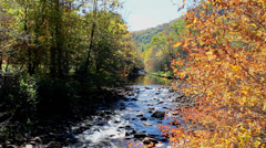 rocky river autumn mountain appalachia - stock footage
