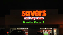 Savers Thrift Store Stock Footage