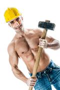 Handsome worker Stock Photos
