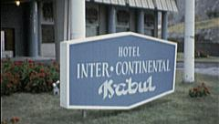Hotel Intercontinental AFGHANISTAN Kabul 1980s Vintage Film Home Movie 7213 Stock Footage