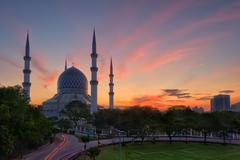 Sunrise at the Blue Mosque - stock photo