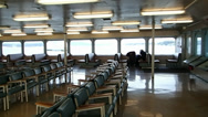 Stock Video Footage of Ferry Interior 1