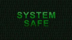 System safe - HD Stock Footage