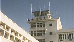 Passengers KABUL INTERNATIONAL Airport 1980s Vintage Film Home Movie 7215 Stock Footage