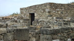 The ruins of the ancient city of Kameiros. Rhodes Island. Stock Footage