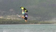 KITESURF FBM SLOWMOTION - stock footage