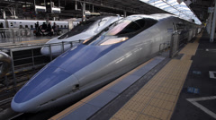 Shinkansen Departs Shin Osaka Station Stock Footage