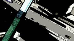 4K Future City Traffic Comic Marvel 2 Stock Footage