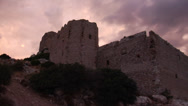 Stock Video Footage of Kritinia Castle. Rhodes. Greece.