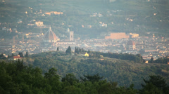 Town of Florence surrounded by hills Stock Footage