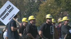 Stock Video Footage of Coal Miner Protest 2 of 8