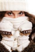Stock Photo of woman in warm clothing winter fashion