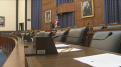U.S. Congressional Hearing Room Stock Footage