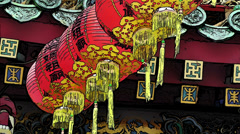 Chinese Lanterns Comic Marvel Stock Footage
