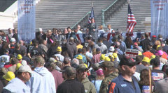 Coal Miner Protest 8 of 8 Stock Footage