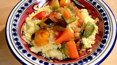 Couscous with vegetables Stock Footage