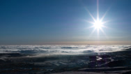 Stock Video Footage of Morning Fog over Denver with Sun