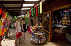 Tourist in souvenir shop Stock Photos
