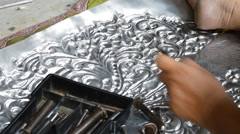 Silver handicrafts Stock Footage