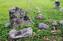 Stock Photo of arai te tonga marae in rarotonga cook islands
