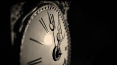 Vintage Clock Time Lapse showing Time Passing Stock Footage