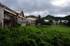 the unfinished sheraton hotel in rarotonga cook islands - stock photo