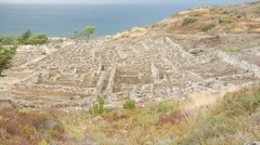 The ruins of the ancient City of Kameiros. Rhodes Island. Aegean See. Stock Footage