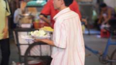Asian Street Market Stock Footage