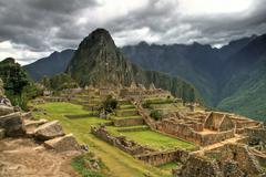 Machu Picchu and its splendor in Cusco, Peru. Stock Photos