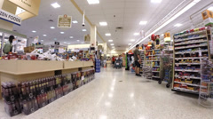 Supermarket freezer section Stock Footage