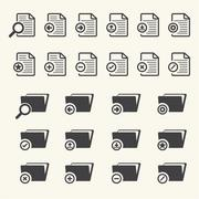 Documents and File Folder icons. Vector - stock illustration