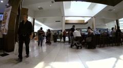Walking through Aventura Mall Stock Footage