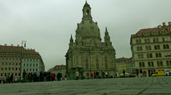 Frauenkirche  in Dresden Stock Footage