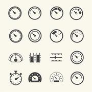 Meter icons. Vector - stock illustration