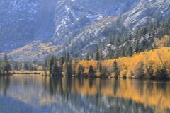 Eastern sierras in fall Stock Photos