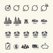 Stock Illustration of Real estate icons set