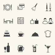 Food and Restaurant icons set. Stock Illustration