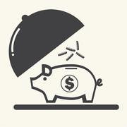 Stock Illustration of Piggy bank.