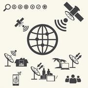 Stock Illustration of Satellite Telecommunications. vector