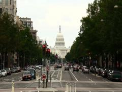 Washington D.C. Capitol Time-Lapse Zoom (2K) - stock footage