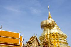 Stock Photo of wat phrathat doi suthep temple in chiang mai, thailand.landmark