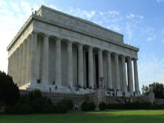 Lincoln Memorial Building Time Lapse Zoom Out (2K) Stock Footage