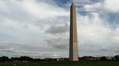 Washington Monument Time-Lapse (4K) Stock Footage