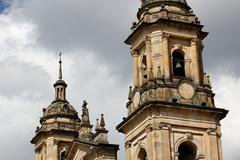 Bogota Cathedral Towers - stock photo