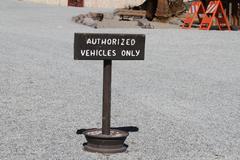 authorized vehicles sign - stock photo