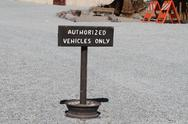 Stock Photo of authorized vehicles sign