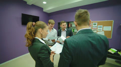 Meeting of young, attractive, self-motivated, business people Stock Footage