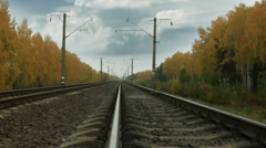 Receding into distance railway Stock Footage